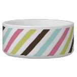 Striped bowl pet water bowl