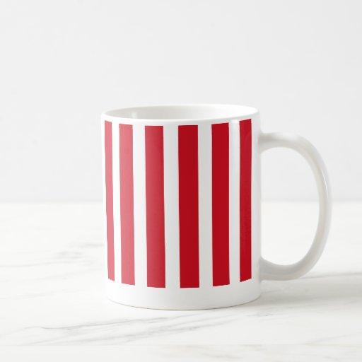 striped  bright red, lava, mug