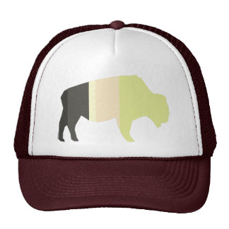 Striped Buffalo Trucker Hat