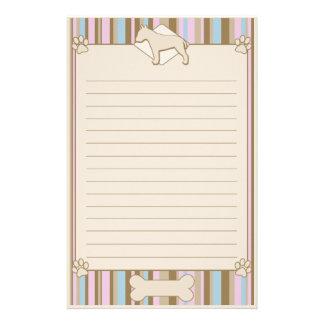 Striped Bull Terrier Stationery