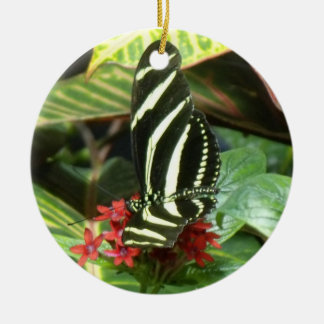 Striped Butterfly Christmas Tree Ornaments
