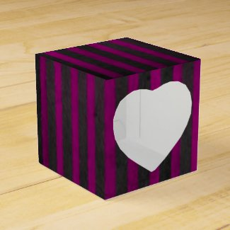 Striped Candy Favor Box