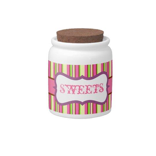 Striped Candy Jar