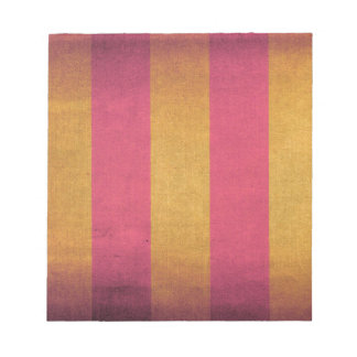 Striped canvas deck chair cover notepad