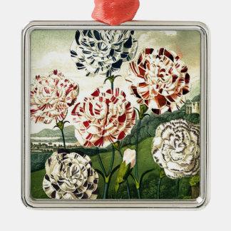 Striped Carnations Metal Ornament