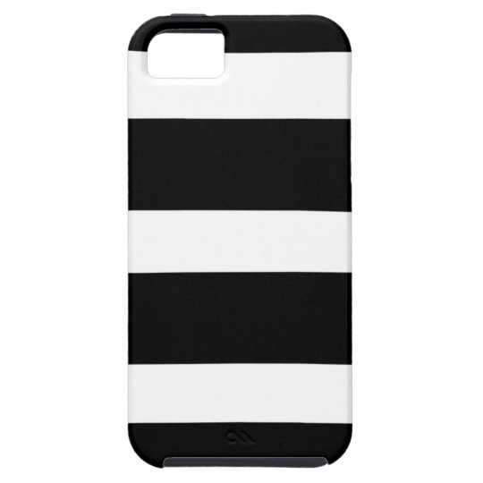 Striped case- customizeable Background Color iPhone SE/5/5s Case