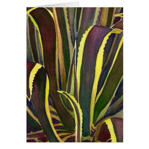 Striped century plant notecard cards