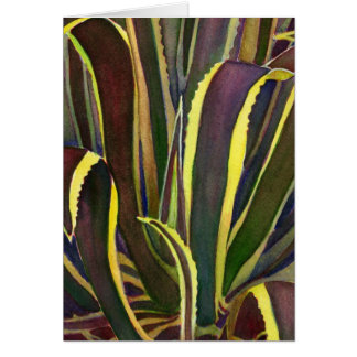 Striped century plant notecard greeting card