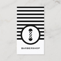 Striped Chic Barbershop Business Card