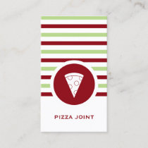 Striped Chic Pizzeria Business Card