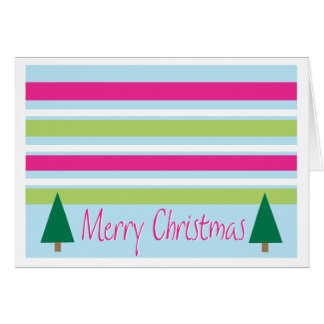 Striped Christmas Card