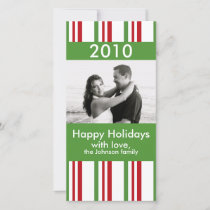 Striped Christmas Holiday Card