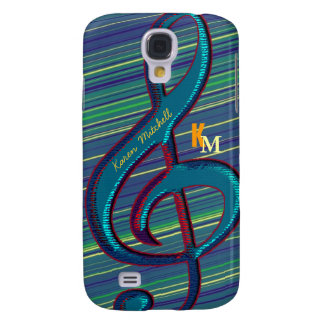 striped clave musical note galaxy s4 case