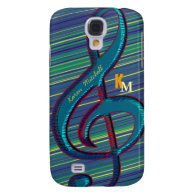 striped clave musical note galaxy s4 cases