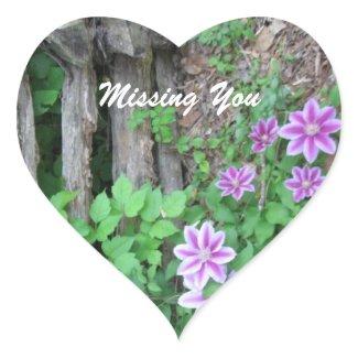 Striped Clemantis: Missing You Sticker sticker