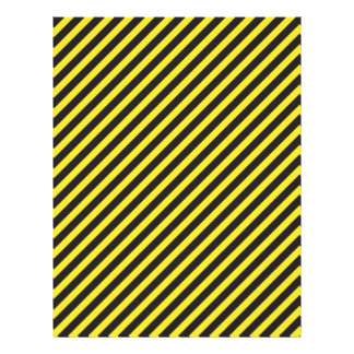Striped Construction - Yellow & Black Diagonal Letterhead