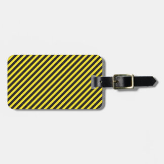 Striped Construction - Yellow & Black Diagonal Luggage Tag