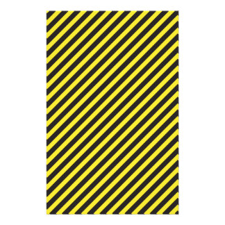Striped Construction - Yellow & Black Diagonal Stationery