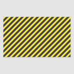 Striped Construction - Yellow & Black Diagonal Rectangle Sticker