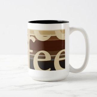 Striped Contemporary Two-Tone Coffee Mug