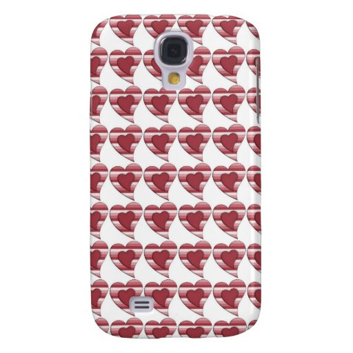 Striped Country Valentine Heart Galaxy S4 Covers