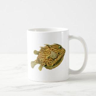Striped cowfish coffee mug