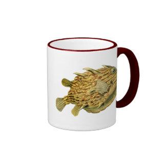 Striped Cowfish Coffee Mugs