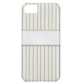 Striped Cream Designer Print iPhone 5C Cases