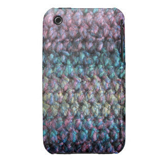 Striped crocheted knitted wool iPhone 3 case