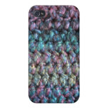 Striped crocheted knitted wool iPhone 4/4S case