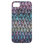 Striped crocheted knitted wool iPhone 5 cover