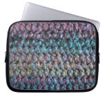Striped crocheted knitted wool laptop sleeves