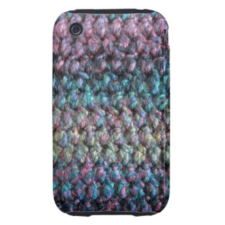 Striped crocheted knitted wool tough iPhone 3 case