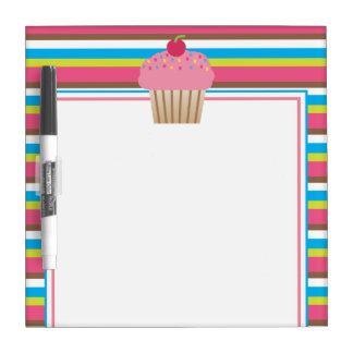Striped Cupcake Dry Erase Board