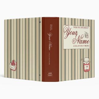 Striped Custom Cookbook Binder