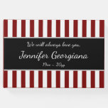 [ Thumbnail: Striped & Customized Memorial Guestbook ]