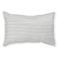 Striped Dark Gray Pet Bed