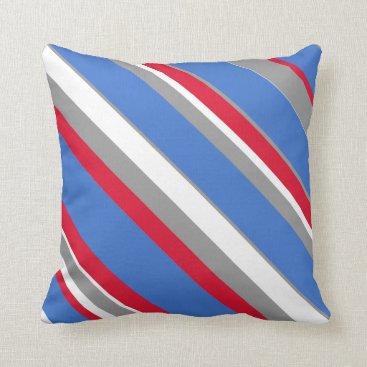 Beach Themed Striped Designer Pillows Nautical Stripes