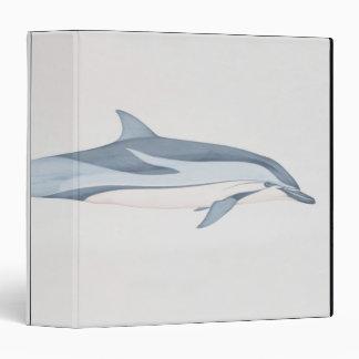 Striped Dolphin 3 Ring Binder