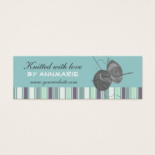 Striped Elegant Handmade Craft Handmade  Knittings Mini Business Card