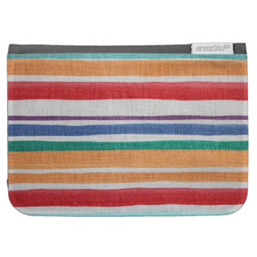 Striped fabric texture kindle cases