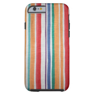 Striped fabric texture tough iPhone 6 case