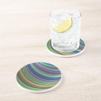 Striped fantasy drink coaster