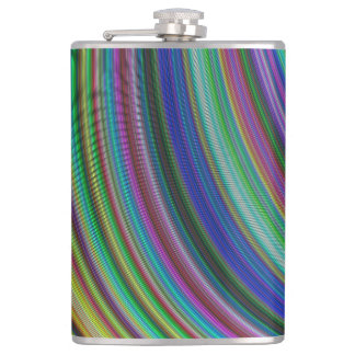 Striped fantasy hip flask
