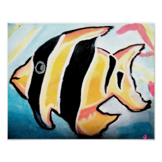 Striped Fish Poster