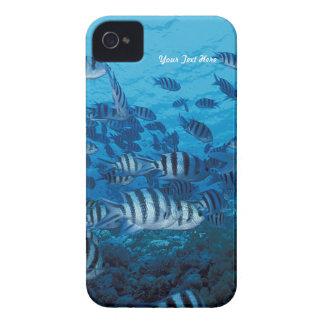 Striped Fish School - Customize Case-Mate iPhone 4 Case