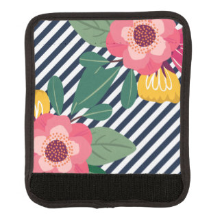 Striped Floral Luggage Strap Cover