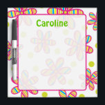 "Striped Flower Dry Erase Board<br><div class=""desc"">Perfect for the kitchen,  office or dorm room! Click &quot;customize it&quot; to change the font options or add text. Coordinating items available at www.gem-ann.com (Zazzle store).</div>"