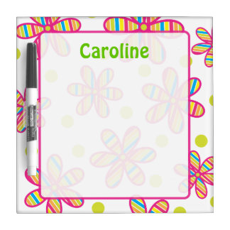 Striped Flower Dry Erase Board