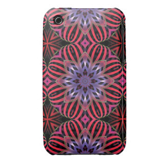 Striped flowers iPhone 3 Case-Mate cases
